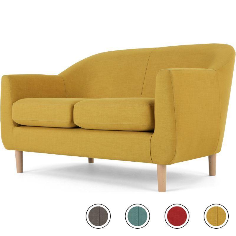 Made Retro Yellow Sofa 2 Seater Sofa Retro Sofa Armchair