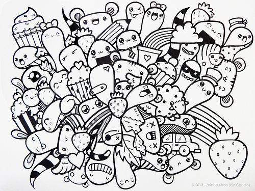 Doodle Strawberry Shortcut Doodle Drawings Kawaii Doodles