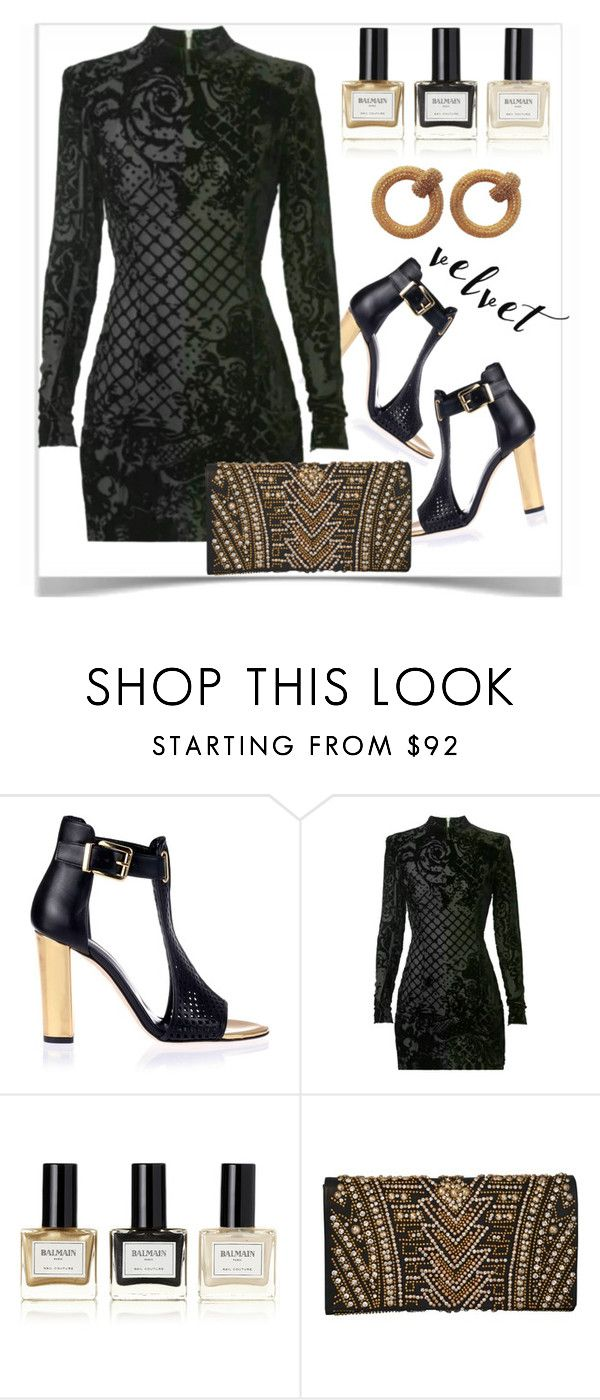 """""""Velvet: the Fabric of Our Lives for Fall 2016!"""" by shoaleh-nia ❤ liked on Polyvore featuring Balmain"""