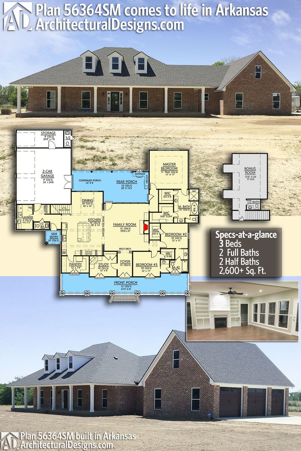 Architectural Designs House Plan 56364SM client built in