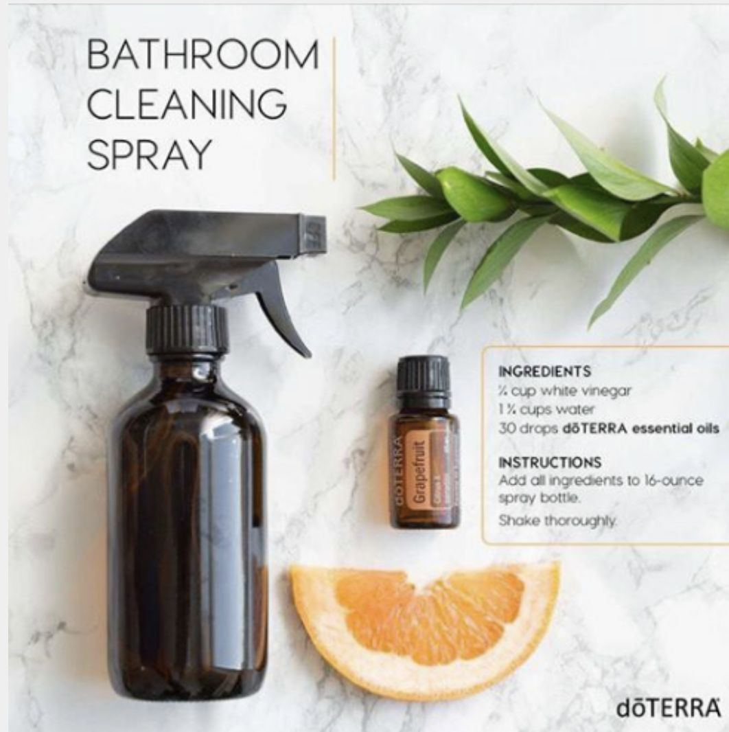 diy bathroom cleaner  essential oils cleaning natural