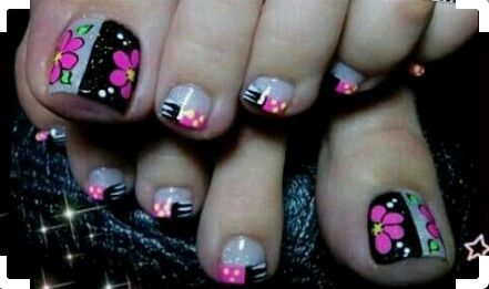 Pin De Carolina Rodríguez En Pedicure Nails Toe Nail Art Y Toe Nails