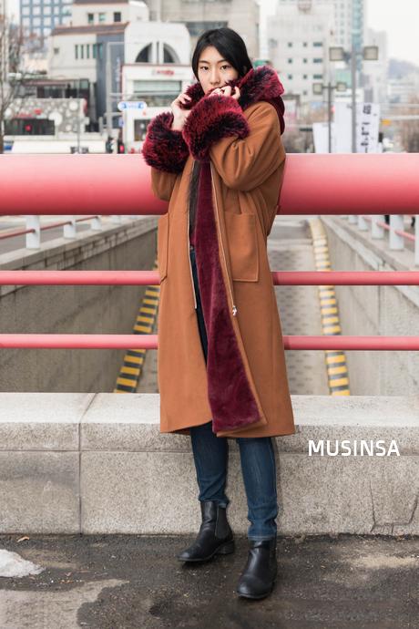 MUSINSA street Kmodel Winter style 2018