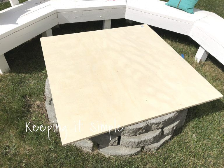 Photo of Backyard Ideas- DIY Fire Pit Cover • Keeping it Simple