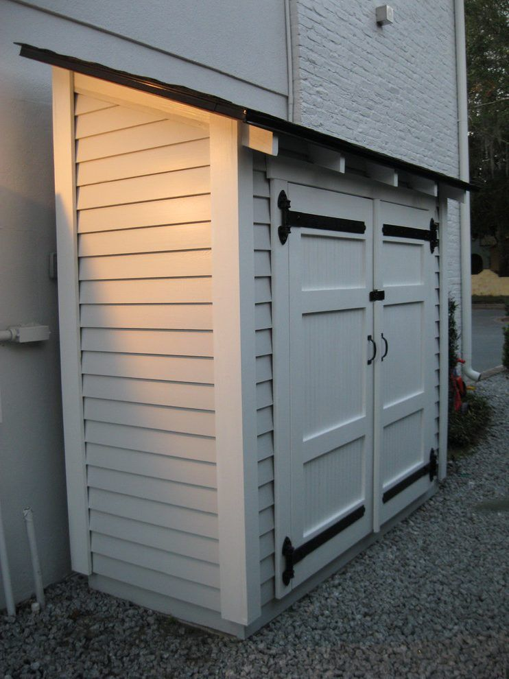 Lawn Mower Storage Shed Traditional With Small Storage