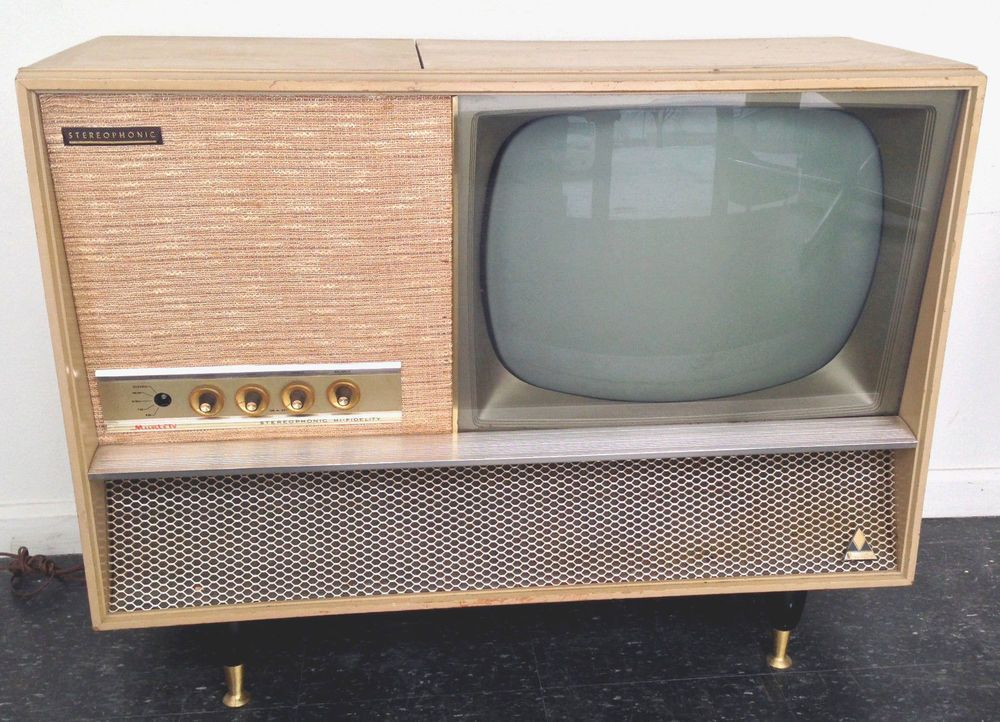 Vintage Mid-Century Muntz Television Record Stereo Console ...