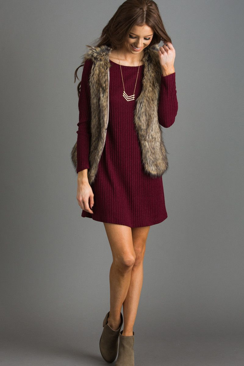 2cb47e57e2ac What s Winter without your favorite faux fur vest  We love the classic cozy  look this piece gives any ensemble! This is great for layering over your ...