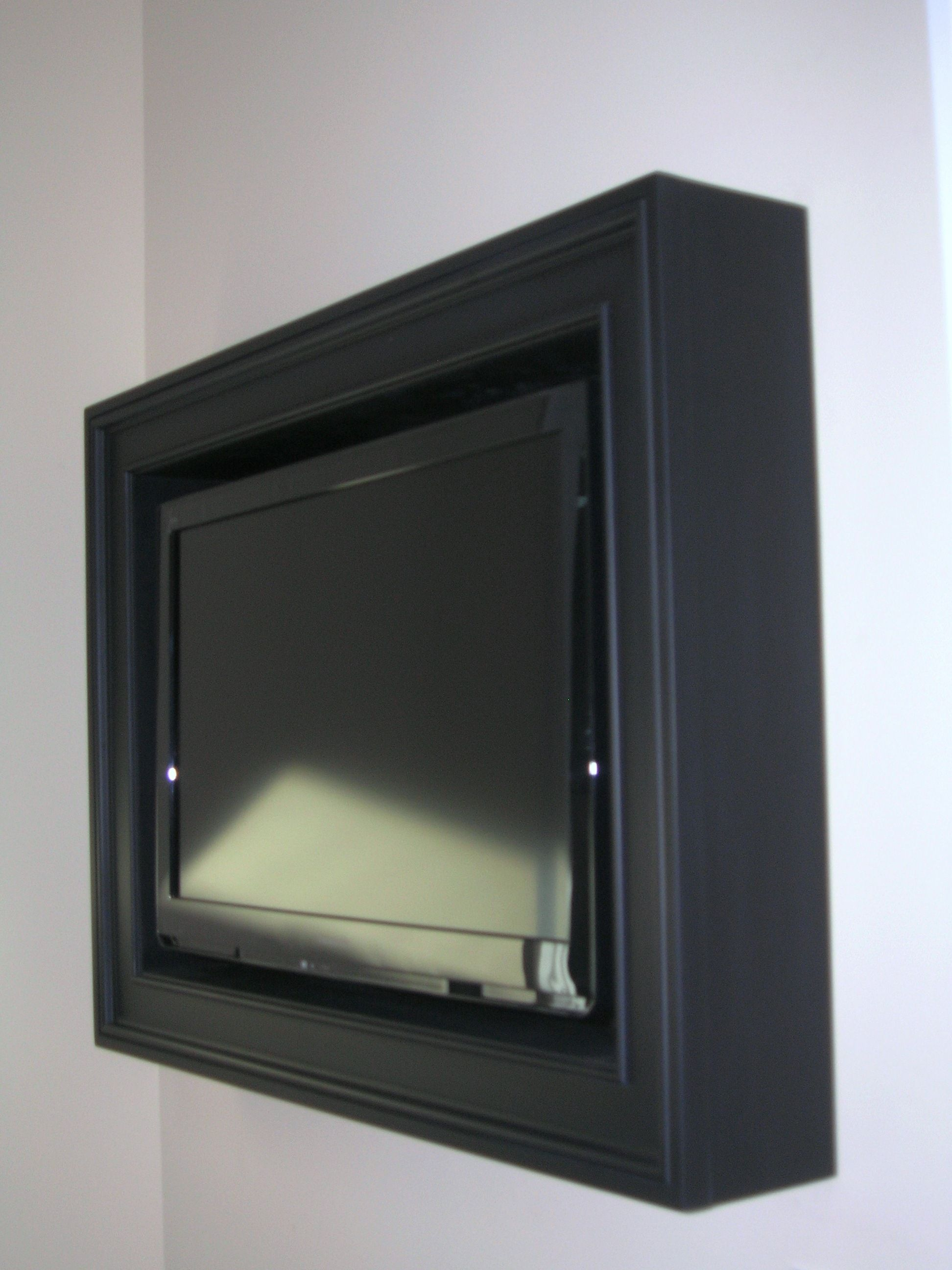 Custom Tv Frames Add Warmth To Any Room Repin This Frameswall Mounted