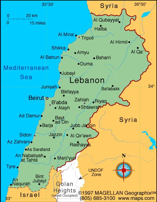 Lebanon   Lebanon   Lebanon map, Beirut lebanon, Syria