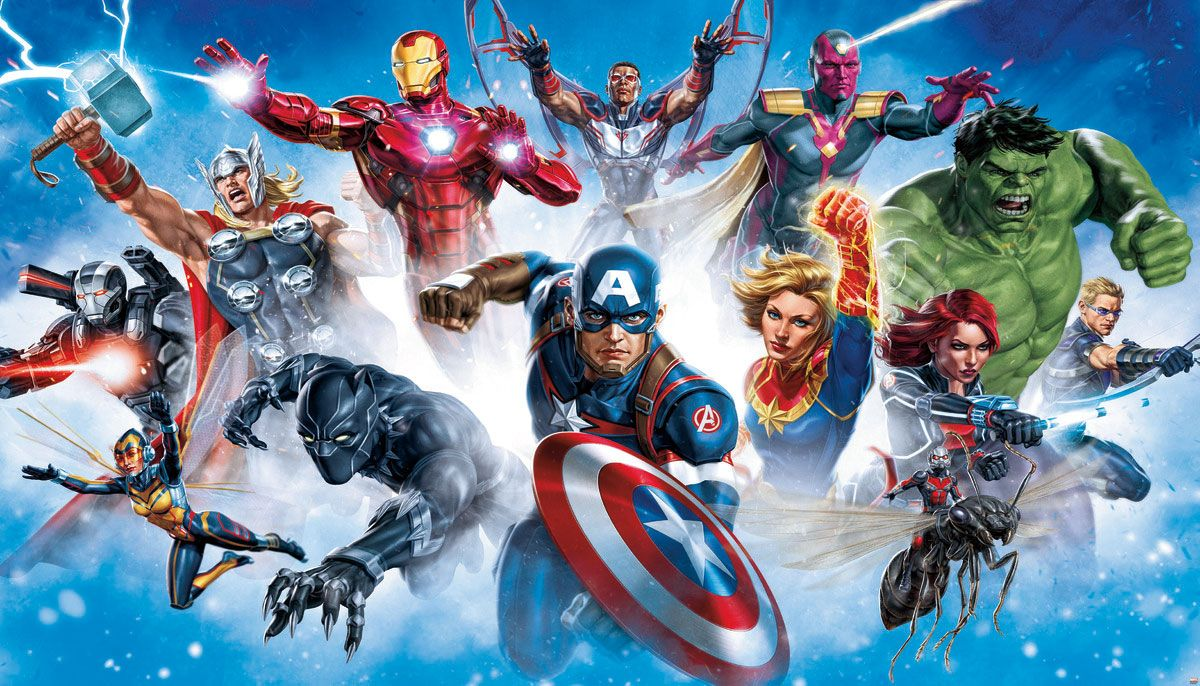 Avenger Characters Gallery Art Peel And Stick Wall Mural Art Gallery Art Gallery Wall Wall Murals