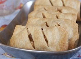 Hand Pies - Any filling would work, this recipe makes apple.  I'm thinking these can be made and then frozen.  To be baked off later