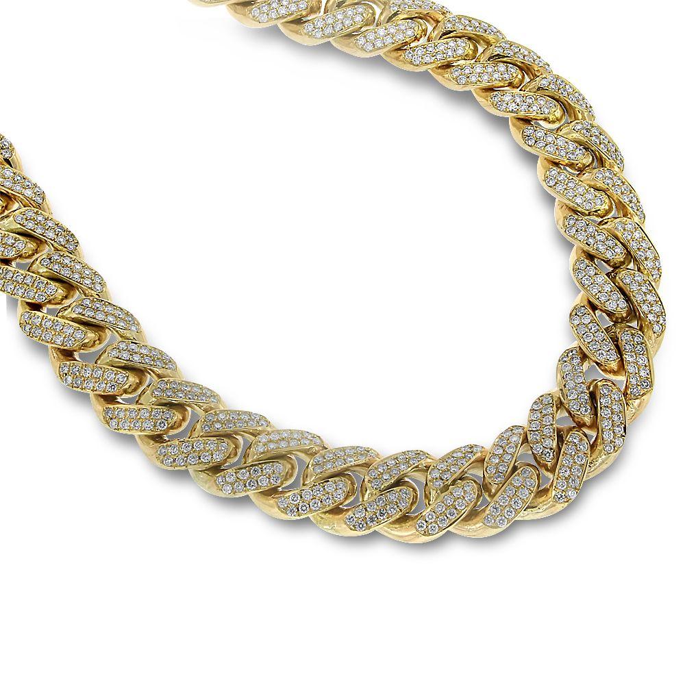10K Yellow Gold Diamond Chain  ae1a5826e9d3