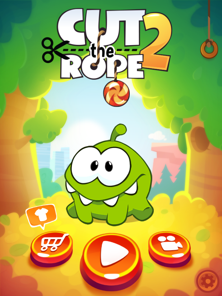 Cut the rope 2 splash ui hud user interface game art