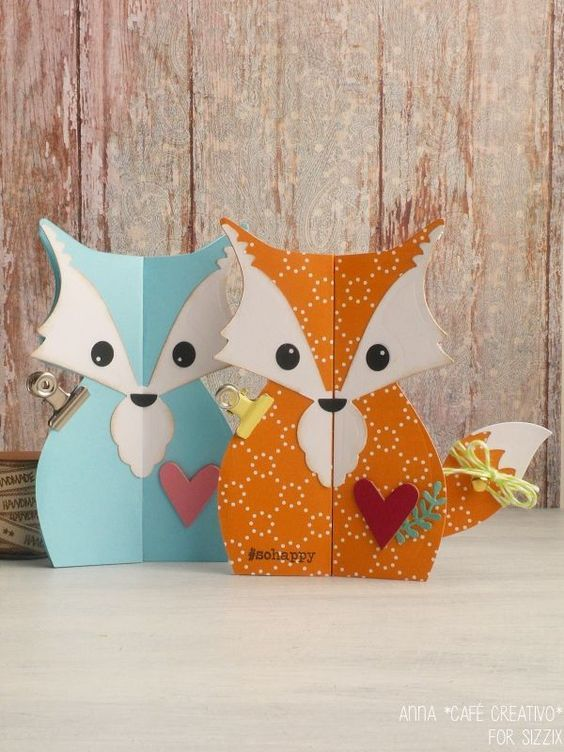 Sizzix Card Making Ideas Part - 47: Card Foxy Fox Sizzix-Card Fox Label Fold-a-Long: Füchse Ræv
