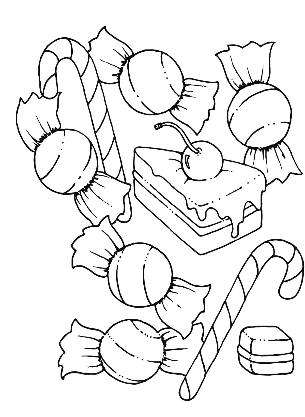 a collection of delicious candy coloring pages - Candy Coloring Sheets