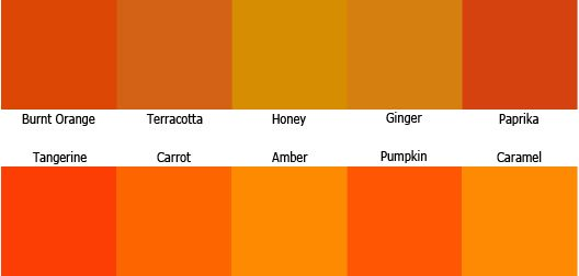 Tangerine Colored Weddings Dreams Orange Wedding Colour Scheme Palette