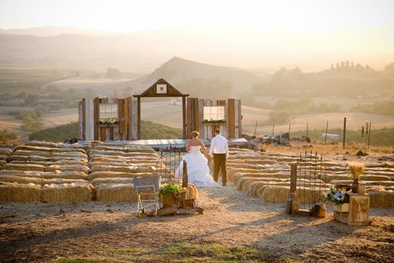 Hay Bale Seating Is So Ing For A Wedding On The Ranch