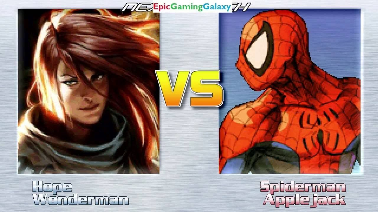 Spider Man And Applejack Vs Hope Summers And Wonder Man In A Mugen Match Battle Fight This Video Showcases Gameplay Of Sp Wonder Man Hope Summers Spiderman