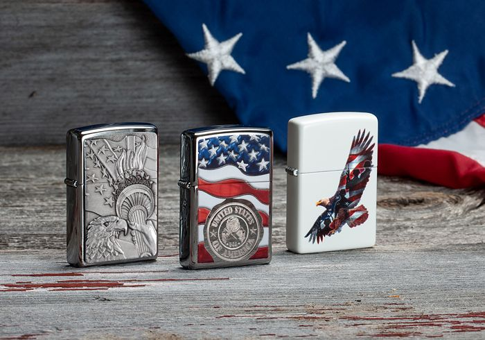 Patriotic Zippo Lighters