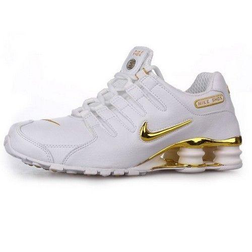 Nike Shox NZ Velcro White Metallic Gold