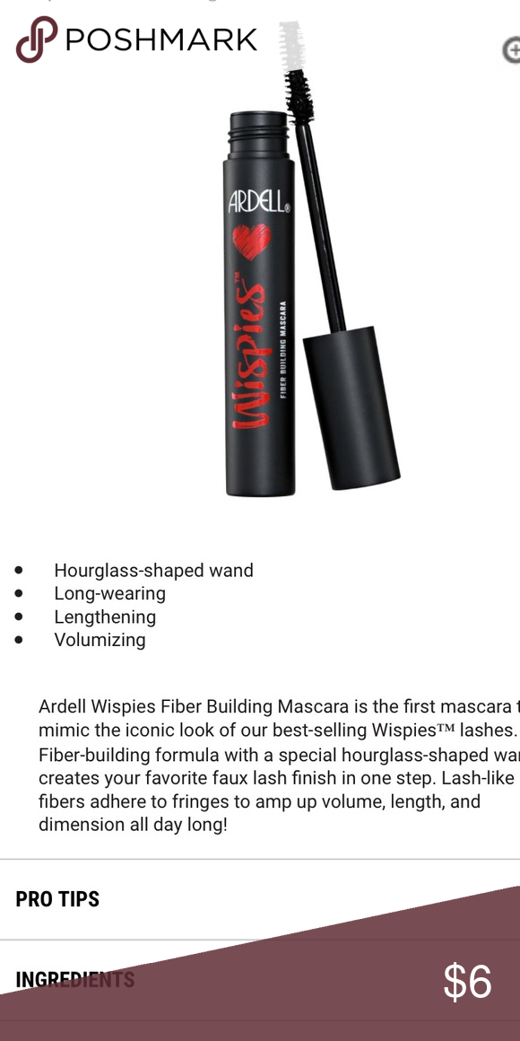 20438fc9234 🆕Ardell Wispies Fiber Building Mascara in Black Ardell Wispies fiber  building mascara Black New Never used Ardell Makeup Mascara