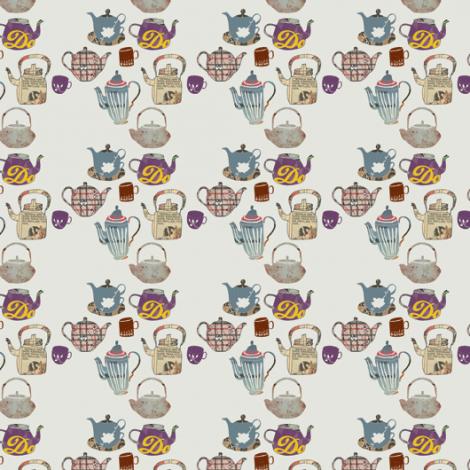 Time for Tea #NordicDesignCollective #tinabackman #design #wallpaper