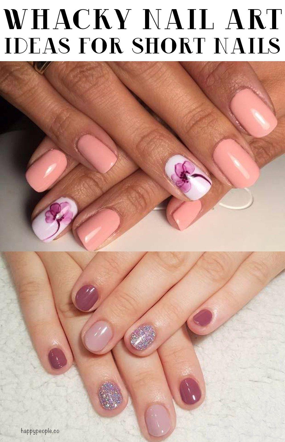 21 Whacky Nail Art Ideas For Short Nails Nails, Nail art