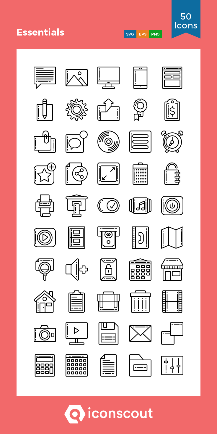 Download Download Essentials Icon pack - Available in SVG, PNG, EPS ...