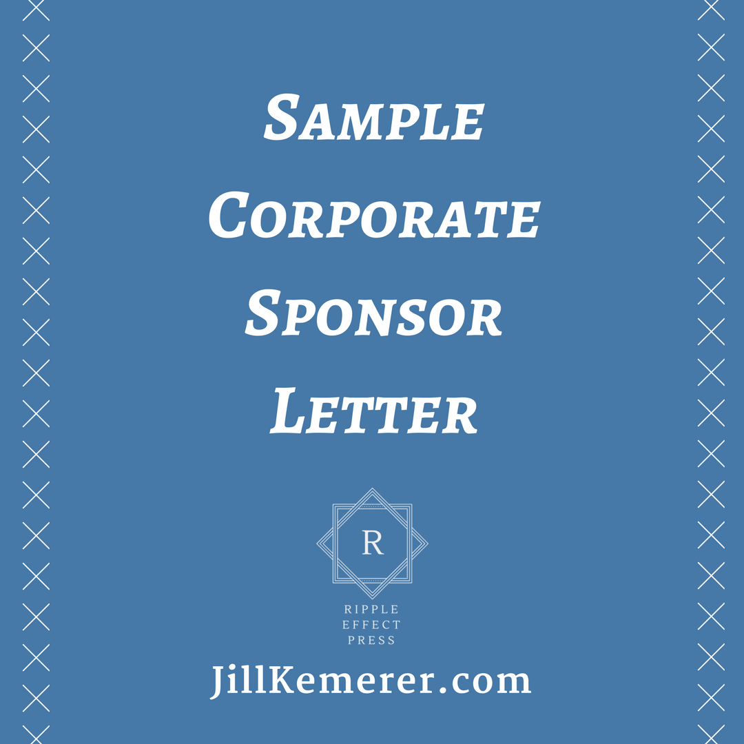 Sample Corporate Sponsor Letter  Game On The Christian Parents