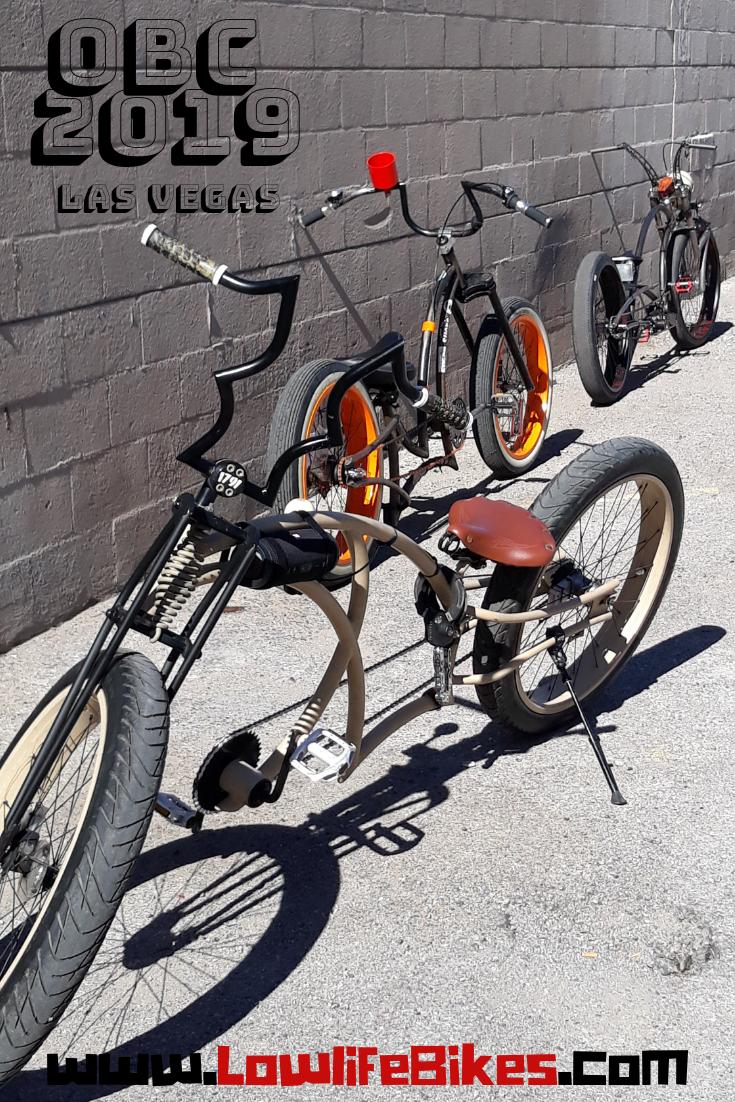 Three Lowlife Bikes In Las Vegas At Obc 2019 Bicycle Bike Custombicycle Cruiser Lowrider Bikelife Cruiserbicycle Custom Bicycle Bicycle Lowrider Bike
