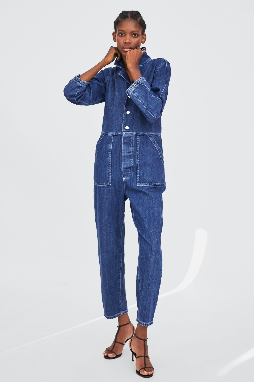 1d456cbe MONO DENIM | DENIM | Denim jumpsuit, Zara jeans, Denim