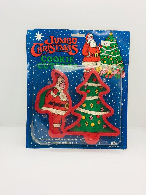 Jumbo Cookie Cutters Santa And Christmas Tree Ensar Unopened Package
