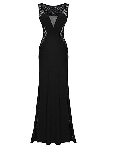 Simple Black Strapless Dress