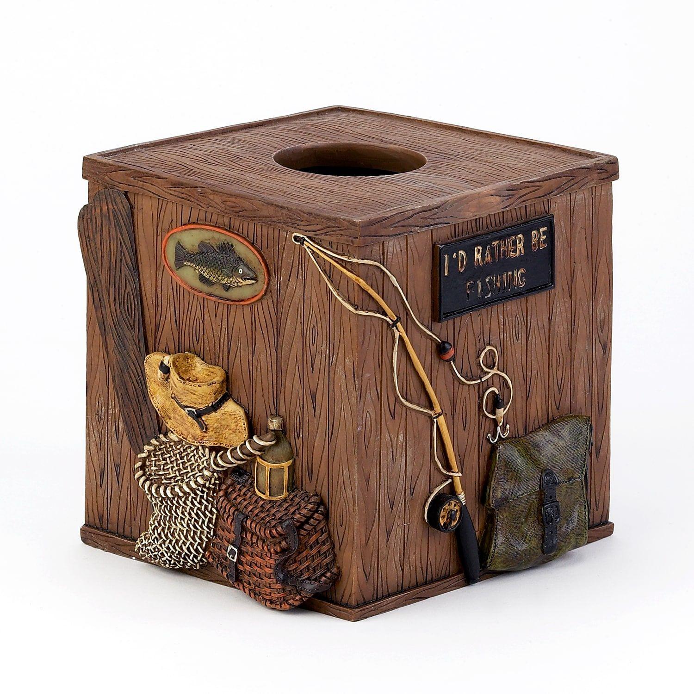 Avanti Rather Be Fishing Tissue Box Tissue boxes