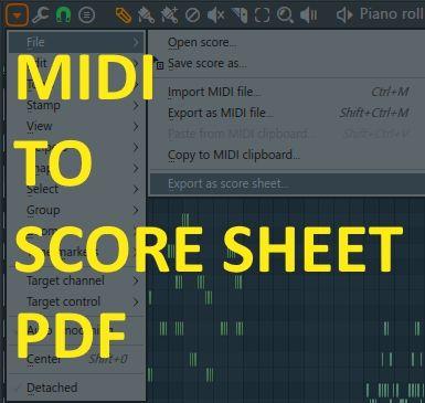 How To Export Midi Music Score For Fl Studio With Images Music Score Music Scores