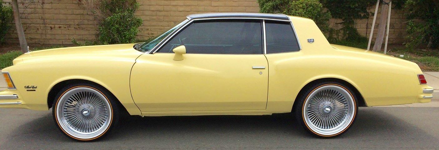 Very Cool 1979 Chevy Monte Carlo On 20 Daytons And Vogues Montecarlo Chevy Chevrolet 1979 20inch Monte Carlo Chevrolet Monte Carlo Classic Cars