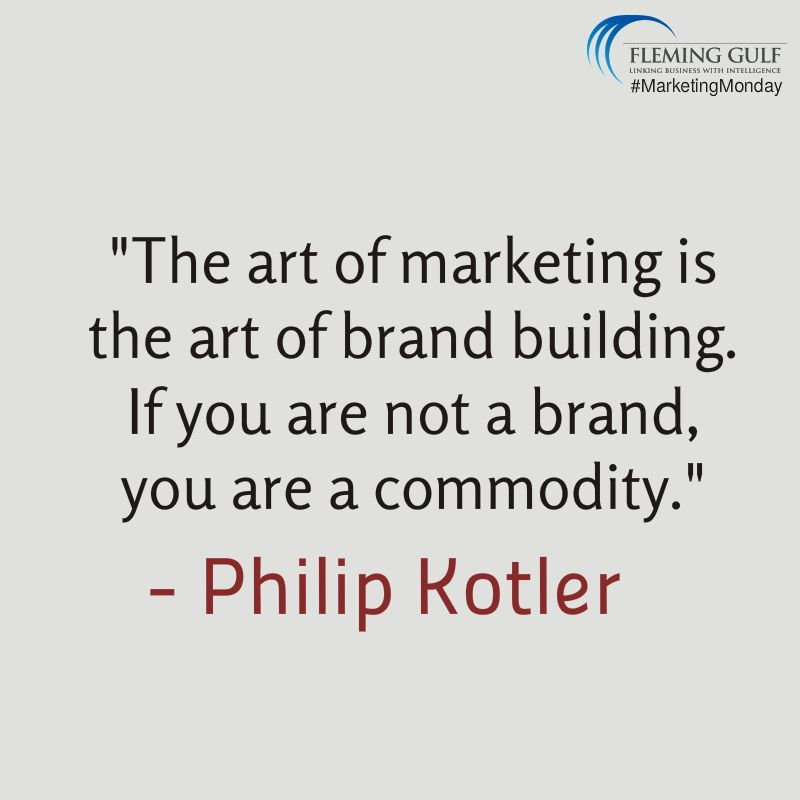 "Marketingmonday #Quote ""The Art Of Marketing Is The Art Of Brand"