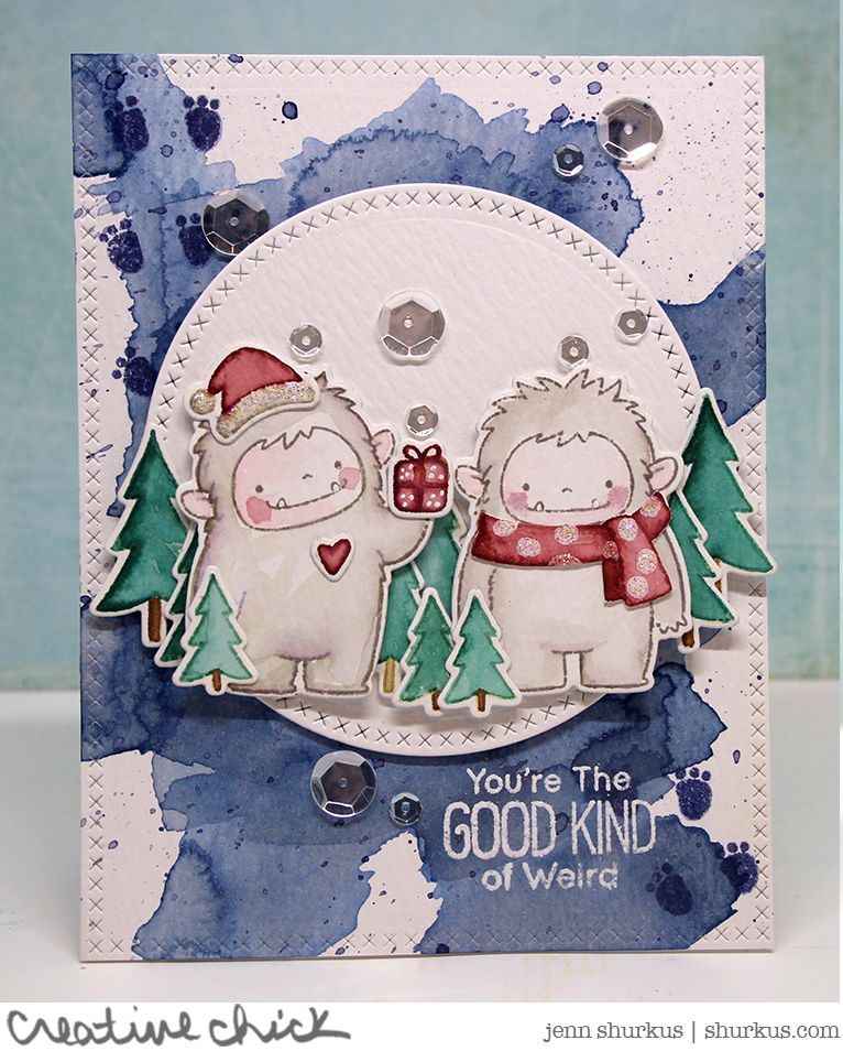 you re the good kind of weird winter card friendship cards