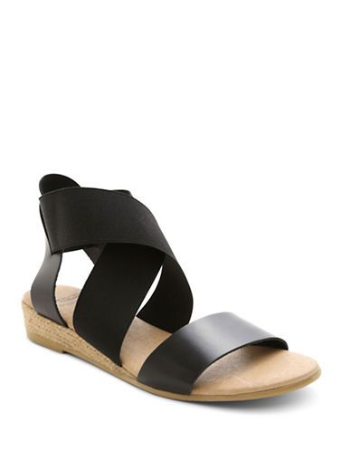 Andre Assous Malta Colorblocked Sandals Women's Black 9