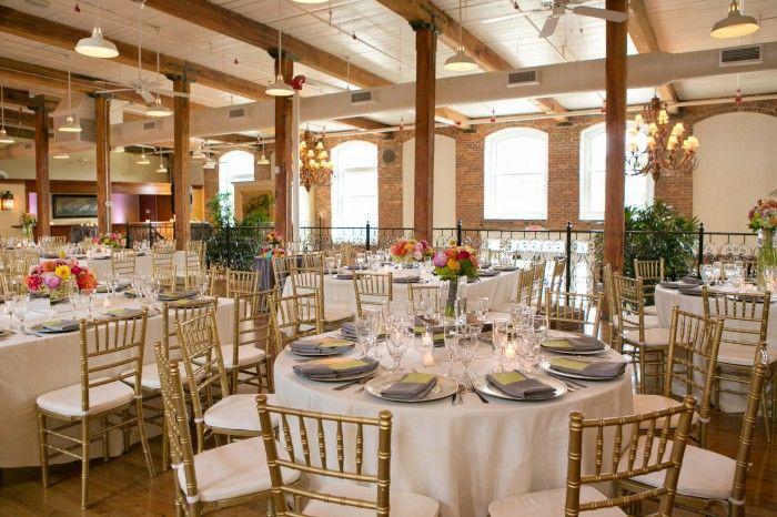 Tablescape Centerpiece Ideas Gold Chiavari Chairs Cotton Mill Wedding