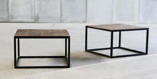Coffee Table Contemporary In Wood Metal Starlight Metafor