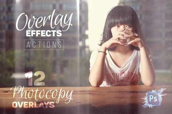 Photocopy Overlays Photo Effects by Creative Stuff on Creative Market