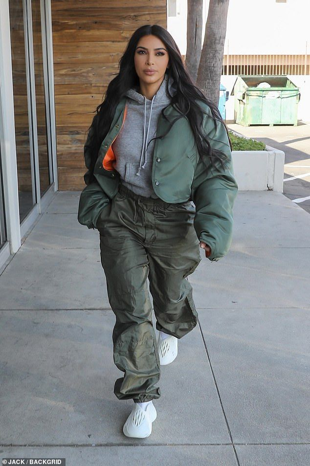 Kim Kardashian keeps comfortable on LA bonding outing with grandmother