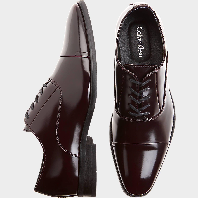 e632aa2c28b6 Calvin Klein Radley Burgundy Cap Toe Oxfords - Dress Shoes