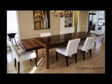 Rustic Reclaimed Threshing Floor Harvest Tables Dining Tables