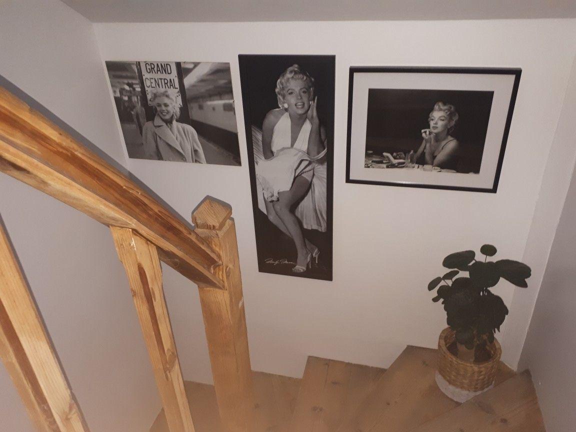 chambre baroque marilyn monroe tableau noir et blanc   idées déco