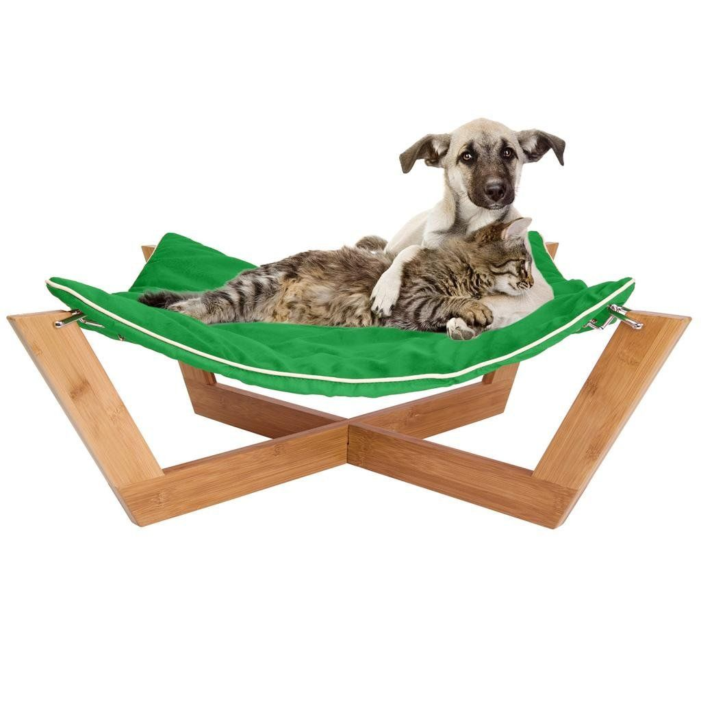 Medium image of amazon     jumbl deluxe large bamboo cat   dog hammock   pet lounge