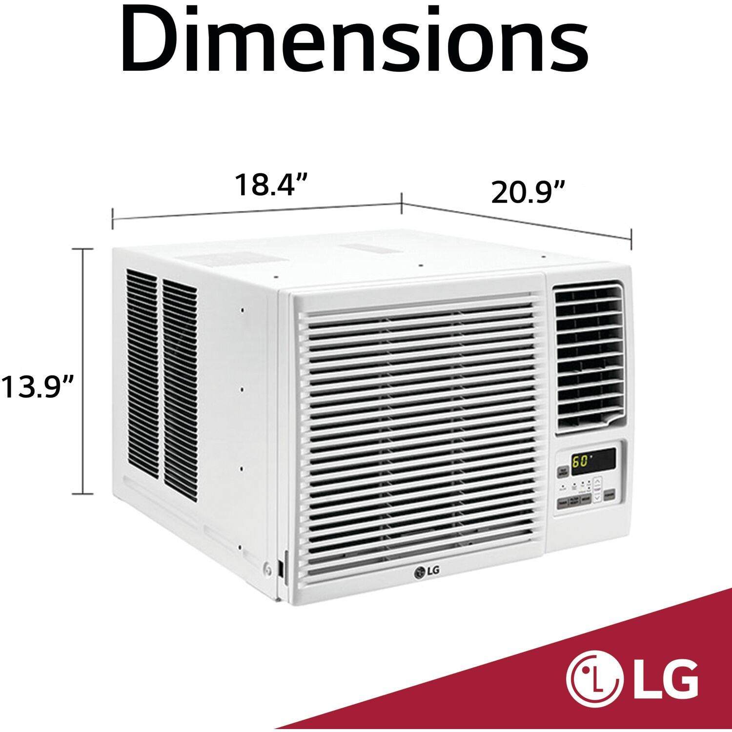 Lg 7 500 Btu 115v Window Mounted Air Conditioner With 3 850 Btu Supplemental Heat Function Walma In 2020 Supplemental Heat Window Air Conditioner Reusable Air Filter