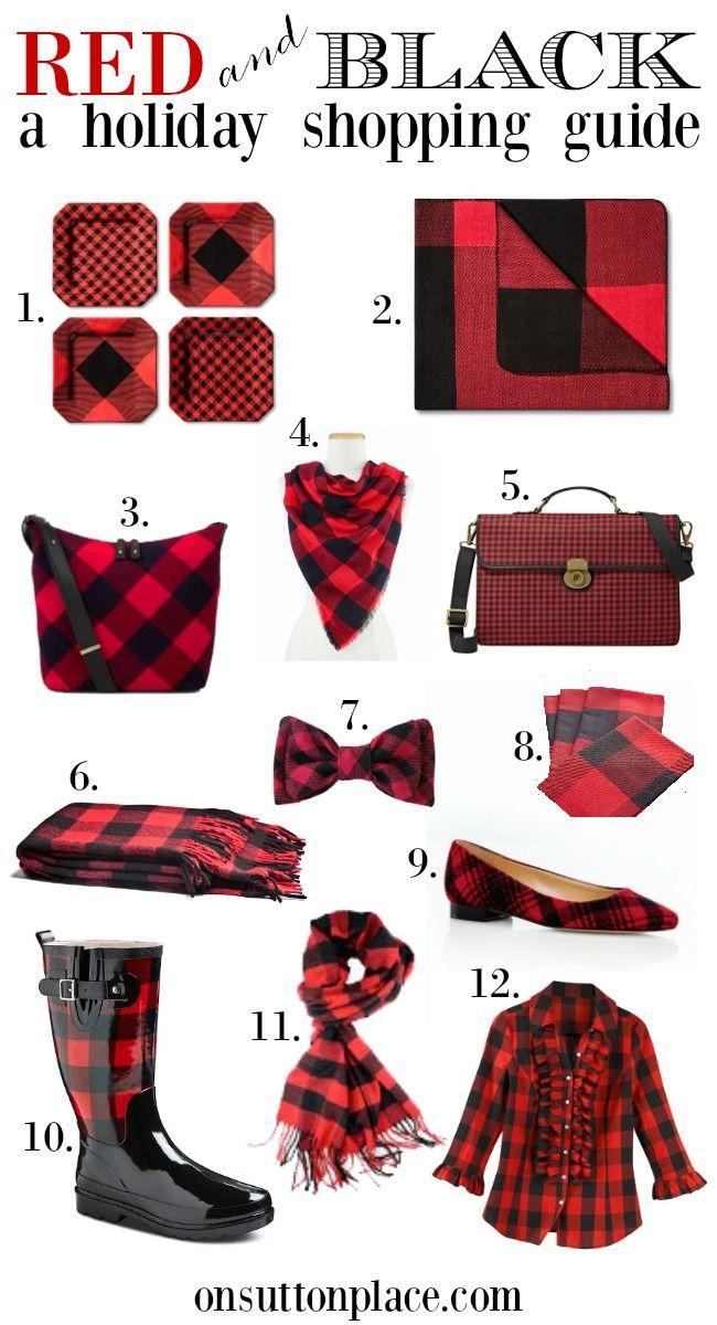 Red And Black Buffalo Plaid Christmas The Plan On Sutton Place Red And Black Plaid Buffalo Plaid Christmas Plaid Fashion