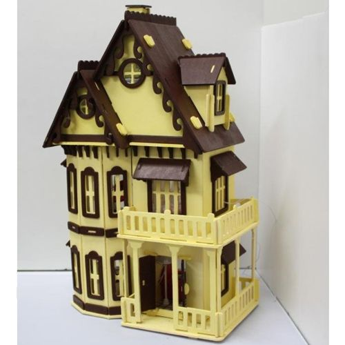 Orchid All Wood Dollhouse Kit